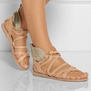 Ancient Greek SandalsNephele Winged Natural